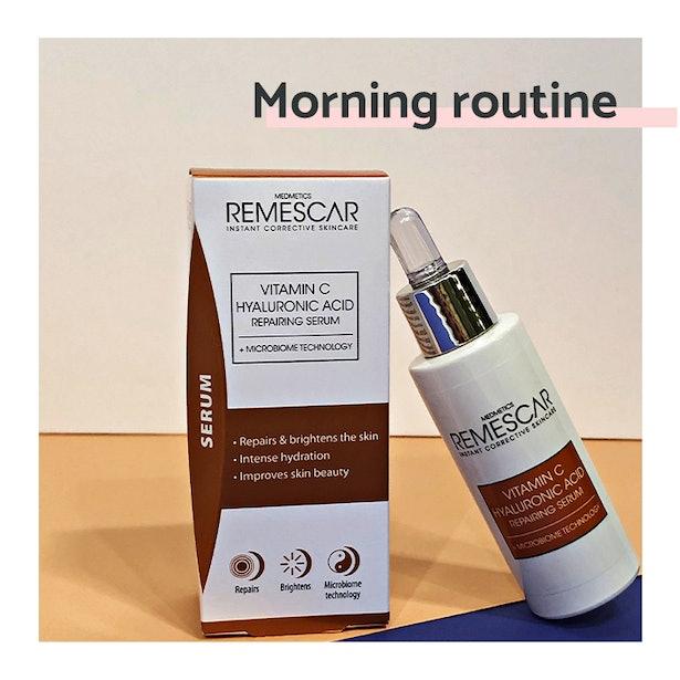 Vitamin C serum morning routine MF